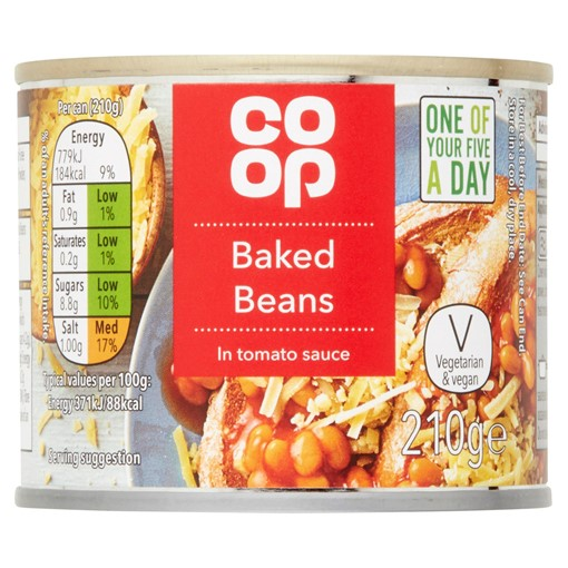 Picture of Co Op Baked Beans in Tomato Sauce 210g
