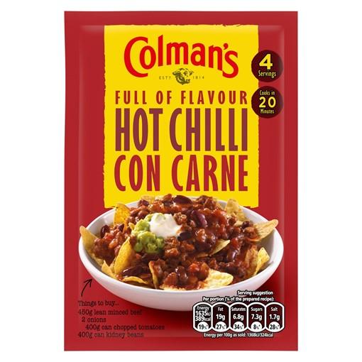 Picture of Colman's Hot Chilli Con Carne Recipe Mix 37g