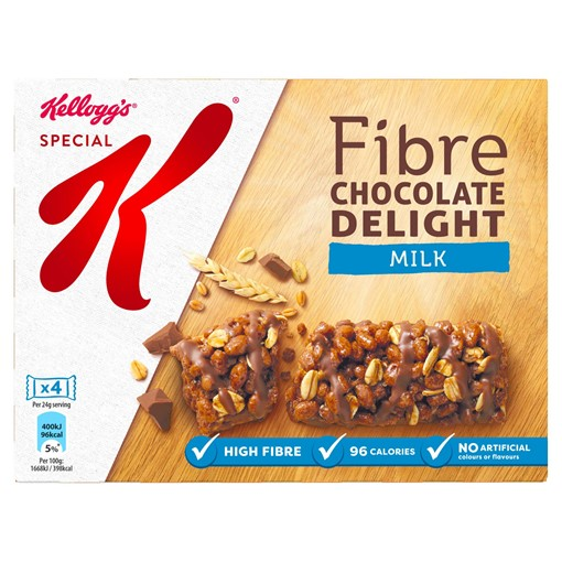 Picture of Kellogg's Special K Milk Chocolate Delight Cereal Bar 24g, Pack of 4