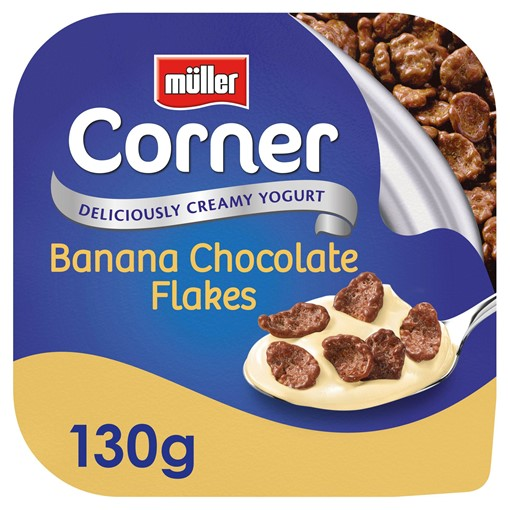 Picture of Müller Corner Banana Yogurt with Chocolate Flakes 130g
