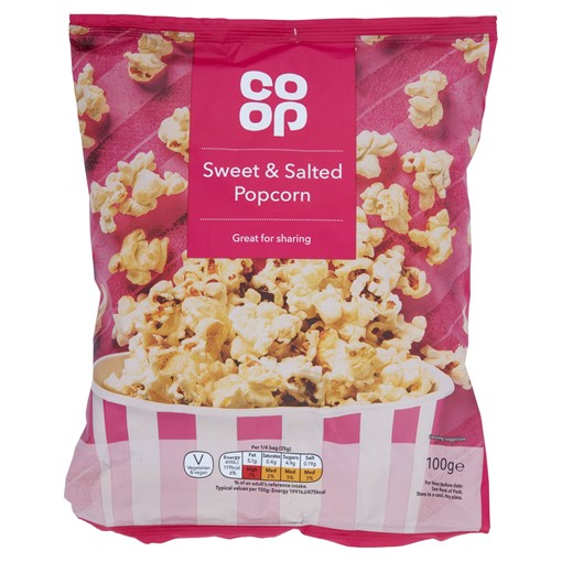 Picture of Co Op Sweet & Salted Popcorn 100g