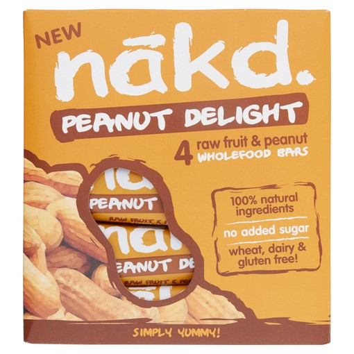 Picture of Nakd Peanut Delight Fruit & Peanut Bars 4 x 35g