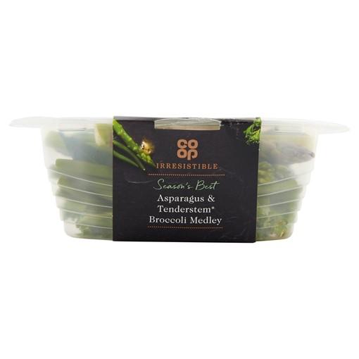 Picture of Co-op Irresistible Asparagus & Tenderstem Broccoli Medley 160g
