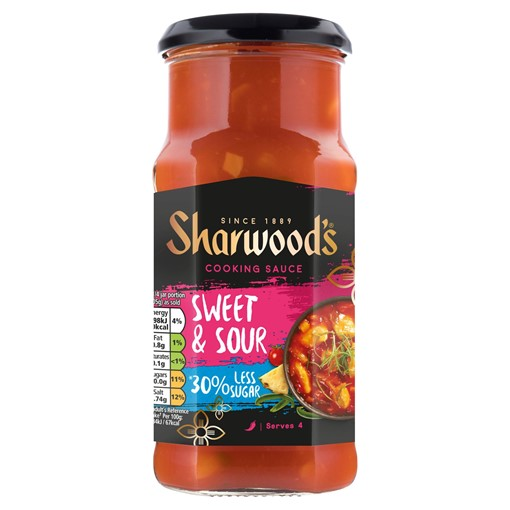 Picture of Sharwood's Reduced Sugar Sweet & Sour Cooking Sauce 425g