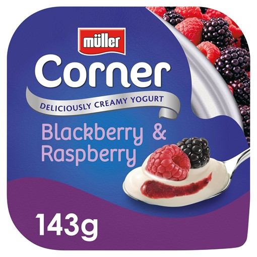 Picture of Müller Corner Blackberry & Raspberry Yogurt 143g