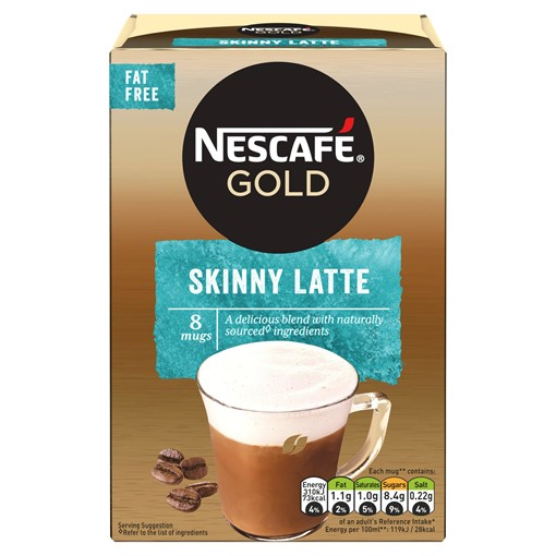 Picture of Nescafe Gold Skinny Latte Instant Coffee 8 x 19.5g Sachets