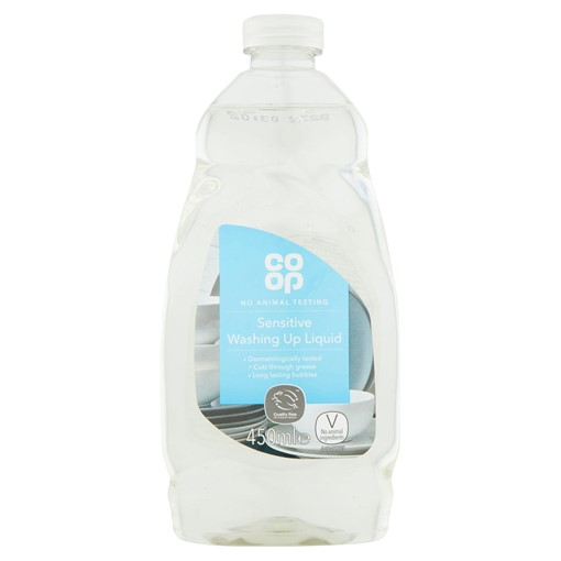 Picture of Co-op Sensitive Washing Up Liquid 450ml