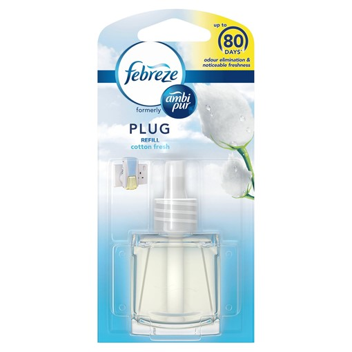 Picture of Febreze With Ambi Pur Air Freshener Plug-In Refill Cotton 20ML