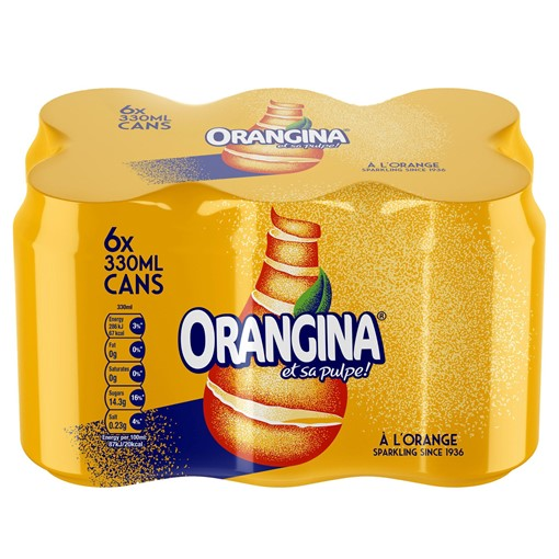 Picture of Orangina Sparkling Fruit Drink 6 x 330ml