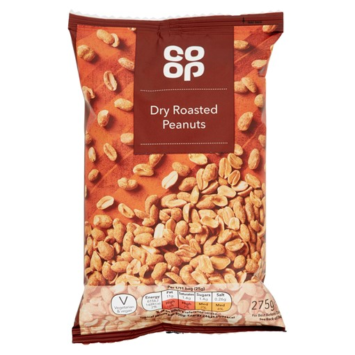 Picture of Co-op Dry Roasted Peanuts 275g