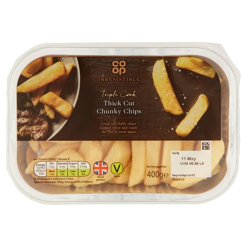 Picture of Co-op Irresistible Triple Cook Thick Cut Chunky Chips 400g