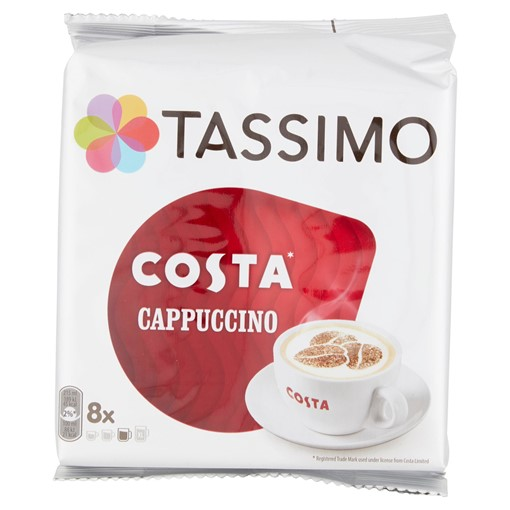 Picture of Tassimo Costa Cappuccino Coffee Pods 8 Servings