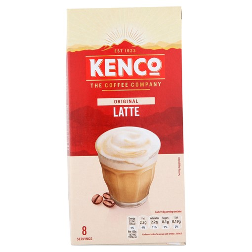 Picture of Kenco Latte Instant Coffee Sachets x8
