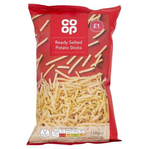 Picture of Co-op Ready Salted Potato Sticks 150g