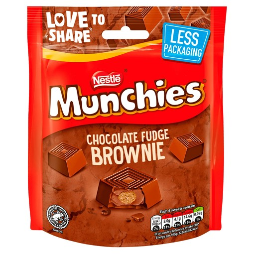 Picture of MUNCHIES Chocolate Fudge Brownie Pouch 101g