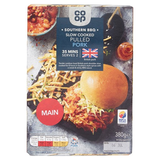 Picture of Co-op Southern BBQ Pulled Pork 380g