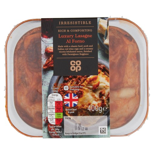 Picture of Co-op Irresistible Luxury Lasagne Al Forno 400g