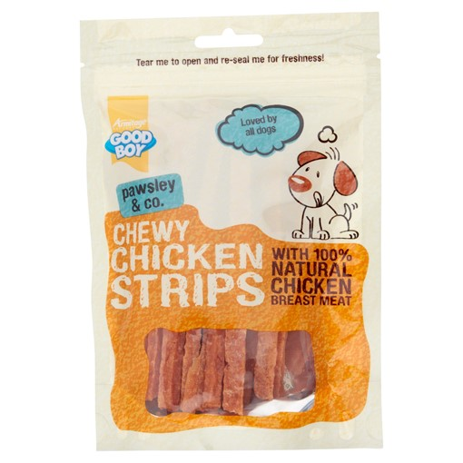 Picture of Good Boy Pawsley & Co. Chewy Chicken Strips 100g