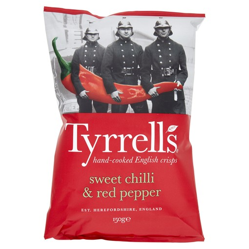Picture of Tyrrells Sweet Chilli & Red Pepper Sharing Crisps 150g