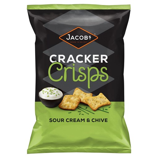 Picture of Jacobs Cracker Crisps Sour Cream & Chive 150g