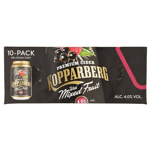 Picture of Kopparberg Premium Cider with Mixed Fruit Fridge Pack 10 x 330ml