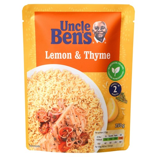 Picture of Uncle Bens Lemon and Thyme Microwave Rice 250g