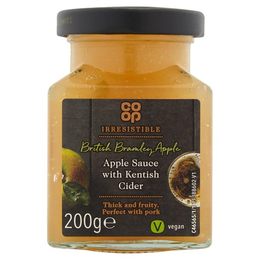 Picture of Co-op Irresistible Apple Sauce with Kentish Cider 200g