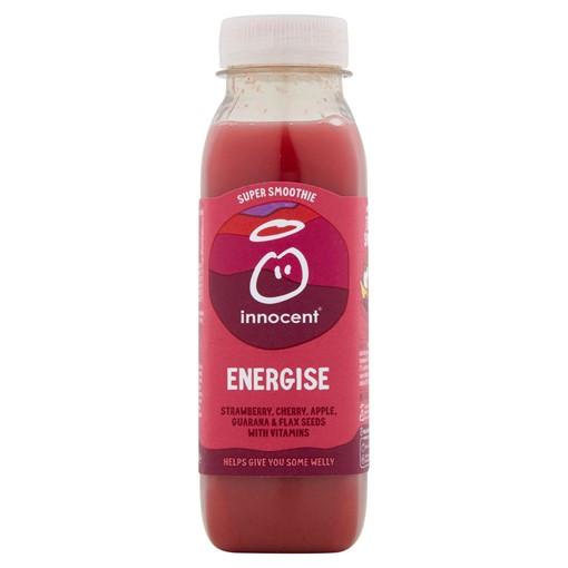 Picture of innocent Super Smoothie Energise, Strawberry & Cherry 300ml