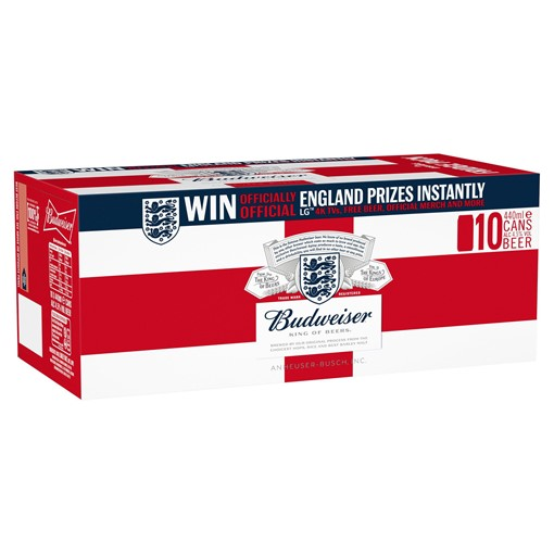 Picture of Budweiser Lager Beer Cans 10 x 440ml