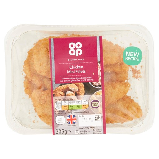 Picture of Co-op Gluten Free Chicken Mini Fillets 305g