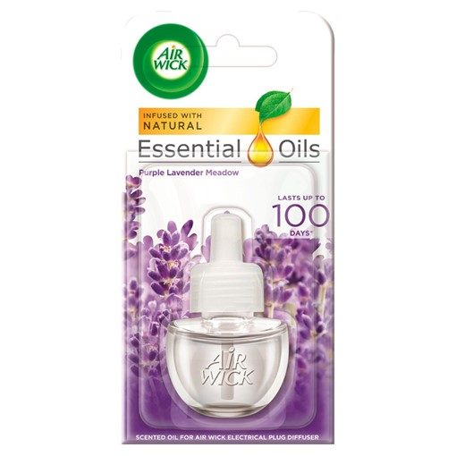Picture of Air Wick Scented Oil for Electrical Plug Diffuser Purple Lavender Meadow 19ml