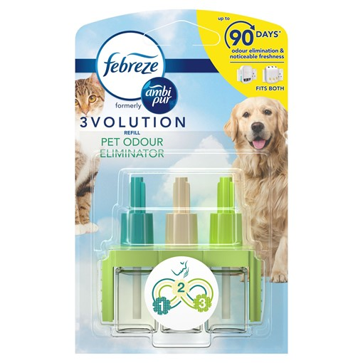 Picture of Febreze With Ambi Pur 3Volution Air Freshener Plug-In Refill Pet 20ml
