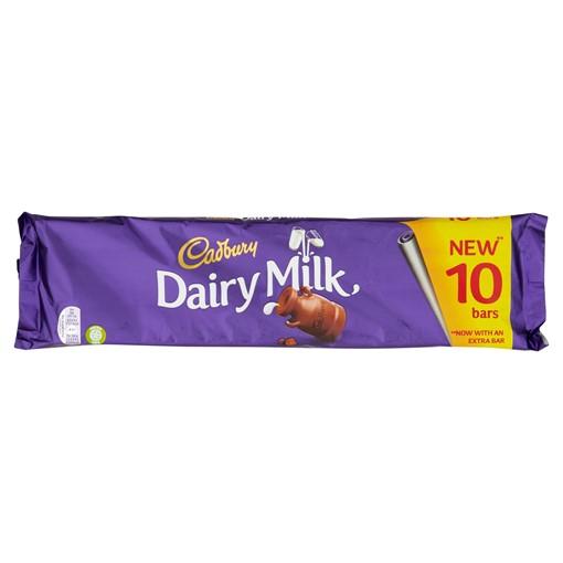Picture of Cadbury Dairy Milk Chocolate Bar 10 Pack 293g