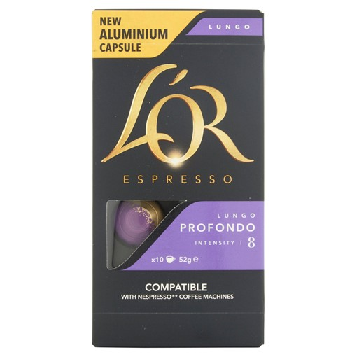 Picture of L'OR Espresso Profondo Lungo Intensity 8 Aluminium Coffee Capsules x10