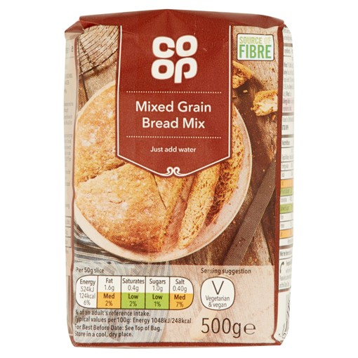 Picture of Co Op Mixed Grain Bread Mix 500g