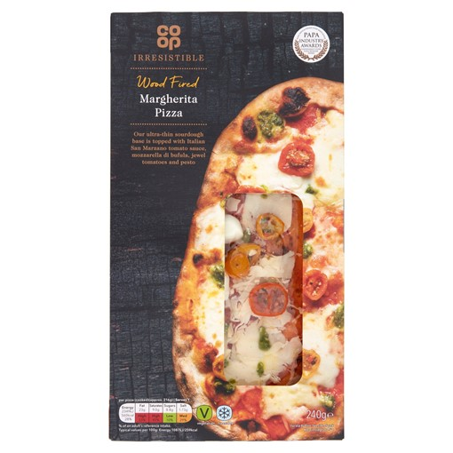 Picture of Co-op Irresistible Wood Fired Margherita Pizza 240g