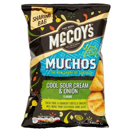 Picture of McCoy's Muchos Sour Cream & Onion Tortilla Crisps 180g