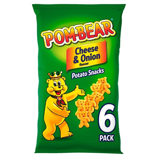 Picture of Pom-Bear Cheese & Onion Flavour Potato Snacks 6 x 13g