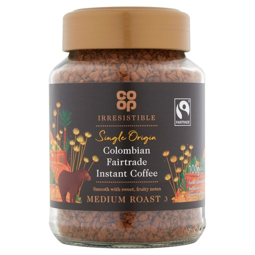 Picture of Co-op Irresistible Colombian Fairtrade Instant Coffee 100g