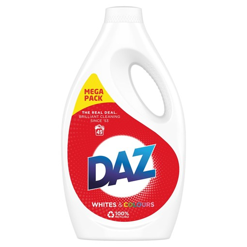 Picture of Daz Washing Liquid Whites & Colours 1.715L 49 Washes