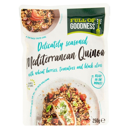 Picture of Full of Goodness Mediterranean Quinoa with Wheat Berries, Tomatoes and Black Olives 250g