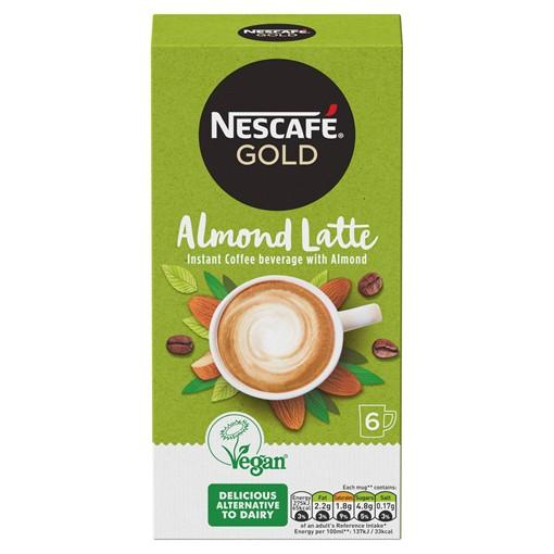 Picture of Nescafé Gold Non-Dairy Almond Latte Instant Coffee 6 x 16g Sachets