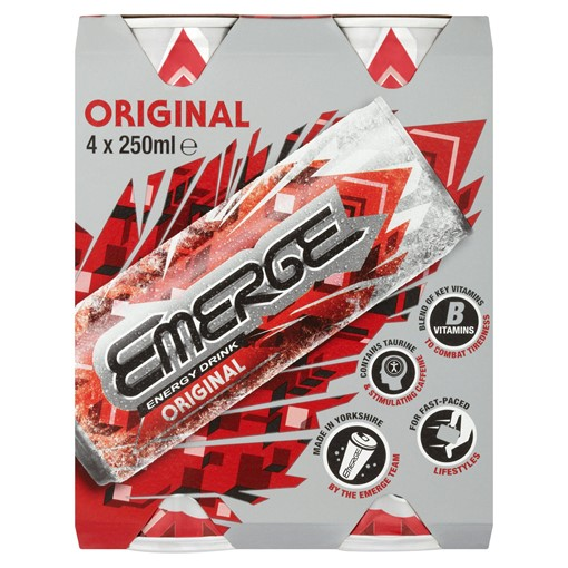 Picture of Emerge Energy Drink Original 4 x 250ml