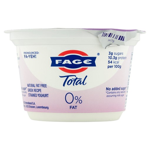 Picture of Fage Total Natural Fat Free Greek Recipe Strained Yoghurt 170g