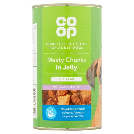 Picture of Co Op Meaty Chunks in Jelly with Turkey and Lamb + 1 Year 1.2kg