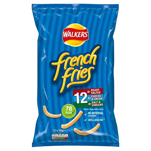 Picture of Walkers French Fries Variety Multipack Snacks 12x18g