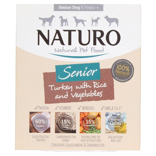 Picture of Naturo Natural Pet Food Turkey with Rice and Vegetables Senior Dog 8 Years+ 400g