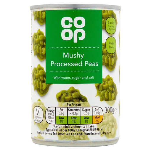 Picture of Co Op Mushy Processed Peas 300g