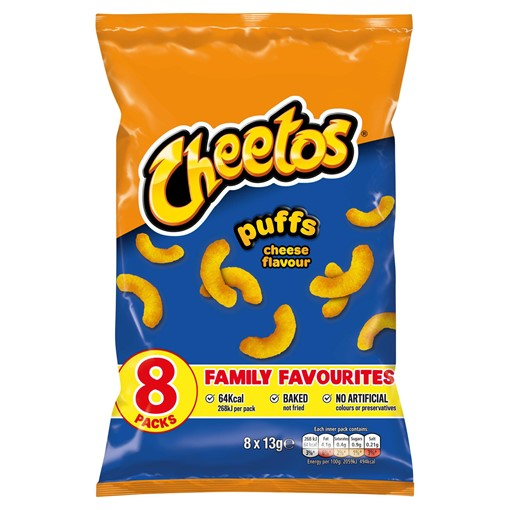 Picture of Cheetos Puffs Cheese Multipack Snacks 8x13g