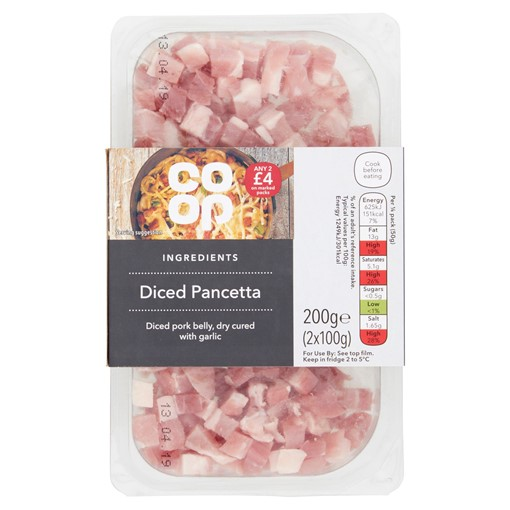 Picture of Co-op Ingredients Diced Pancetta 2 x 100g (200g)
